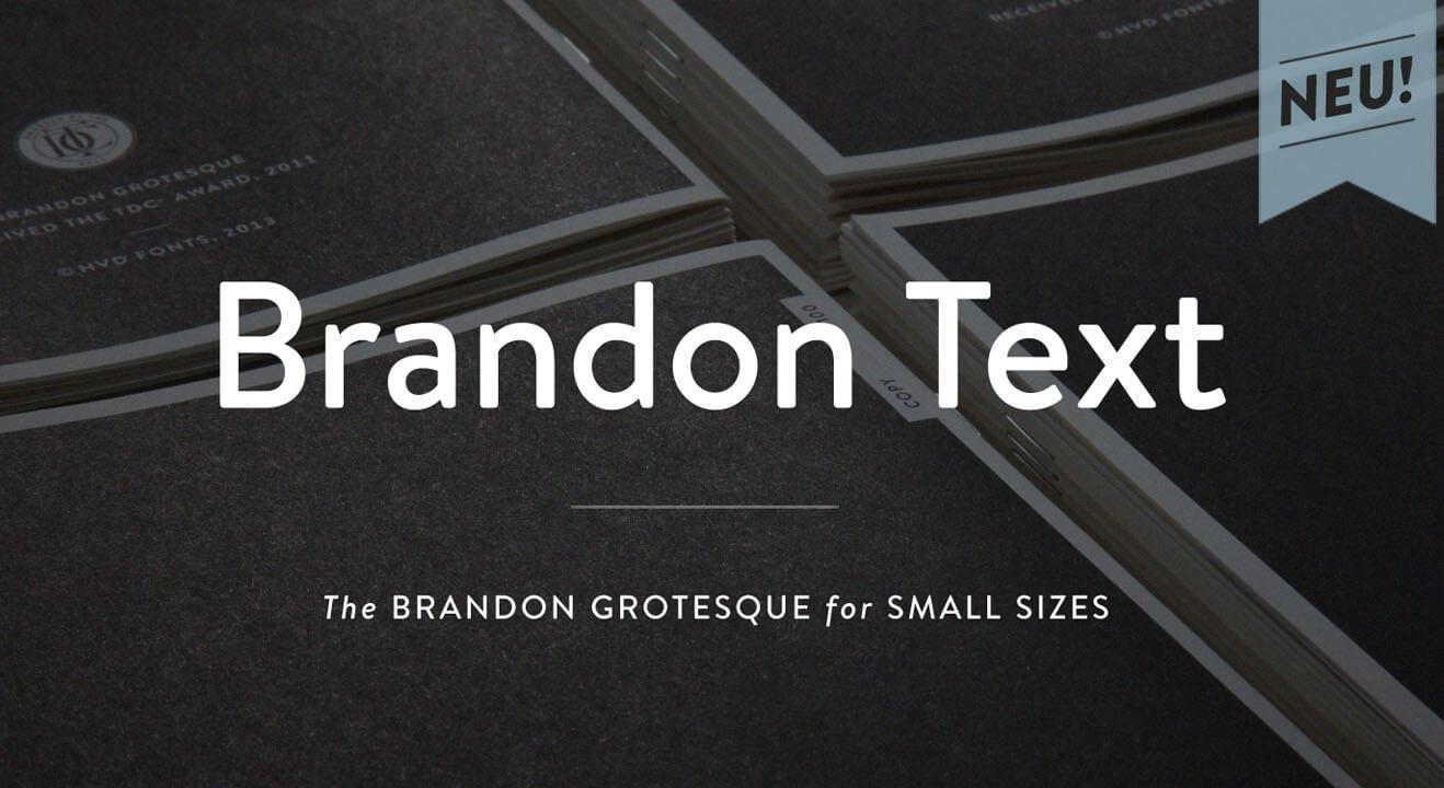 Brandon Text Font