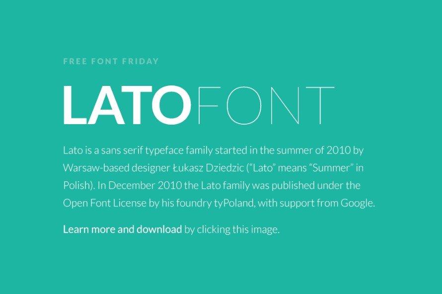 Lato Font Free Download