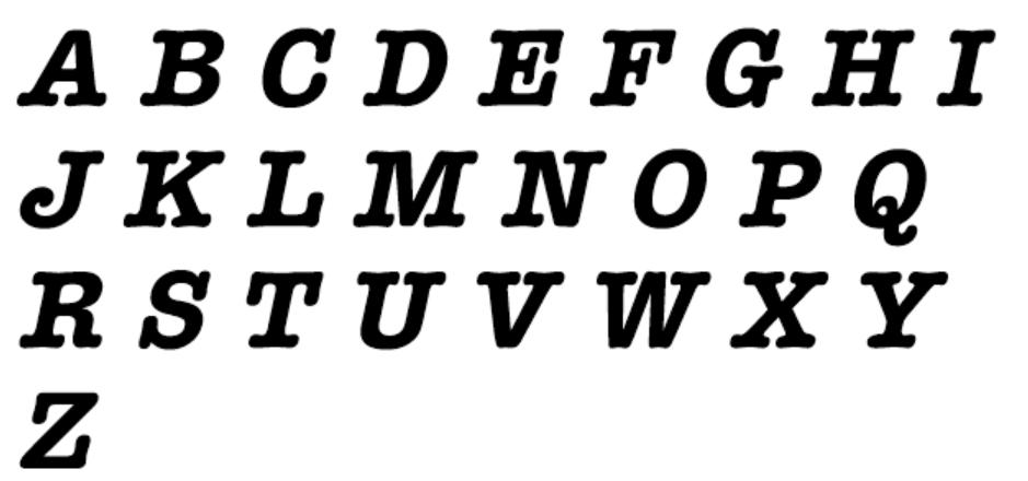 American Typewriter Regular Font