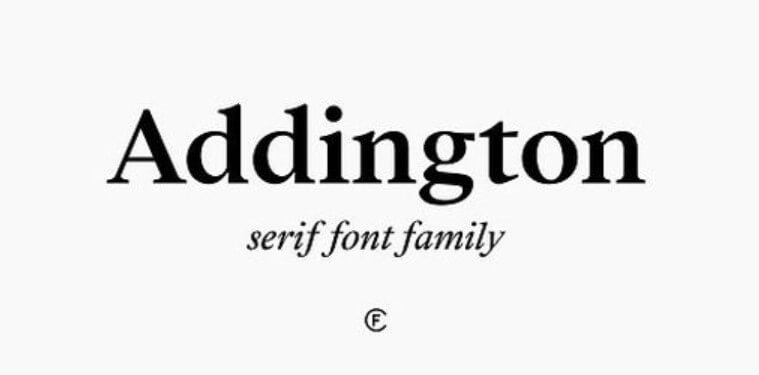 Addington CF Steadfast Serif Font