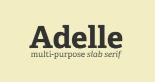 Adelle Font 310x165 - Adelle Font Free Download