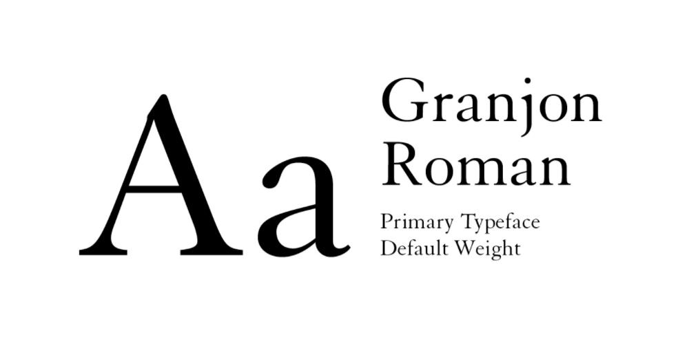 Granjon Roman Font