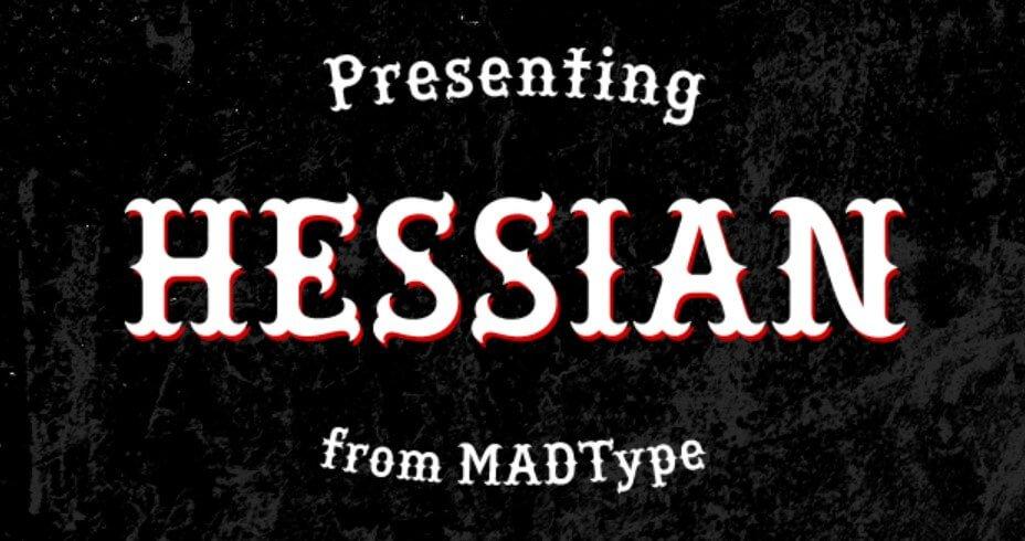 Hessian Font