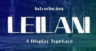 Leilani Typeface Font 310x165 - Leilani Typeface Font Free Download