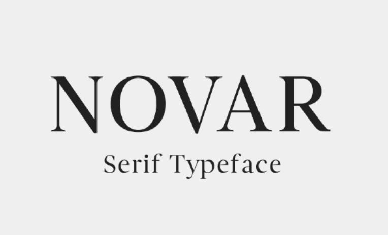 Novar Serif Font