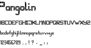 Pangolin Font 310x165 - Pangolin Font Free Download