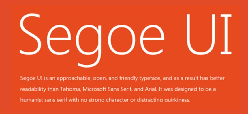 Segoe UI Font