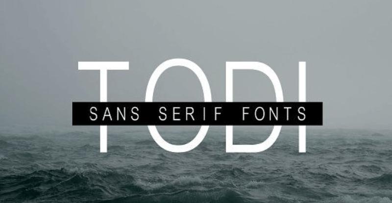 Todi Sans Serif Font