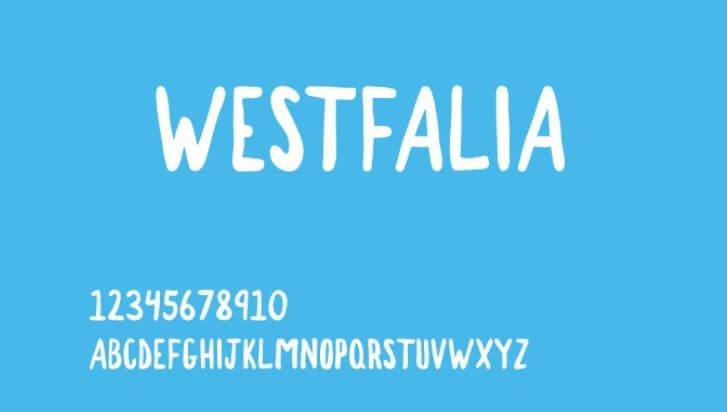 Westfalia Hand Painted Font