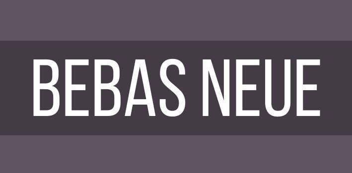 bebas neue - Bebas Neue Font Free Download
