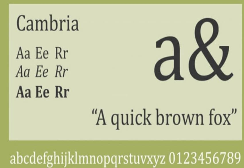 cambria font - Cambria Font Free Downlaod