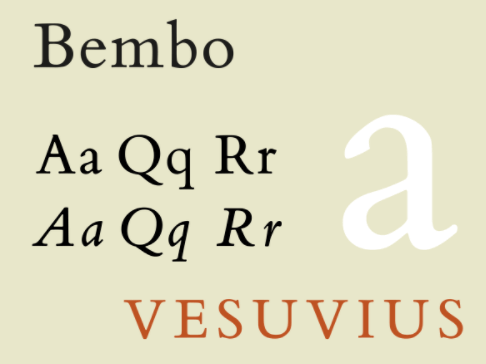 Bembo Bold Font