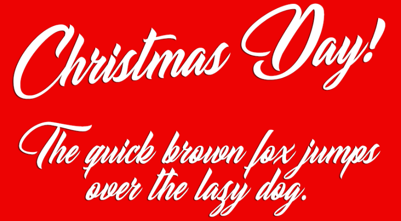 Christmas Day Personal Use Regular Font