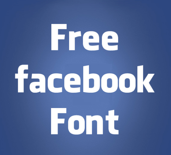 Facebook Letters Font