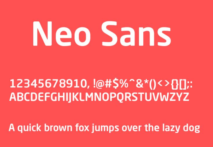 Neo Sans Font
