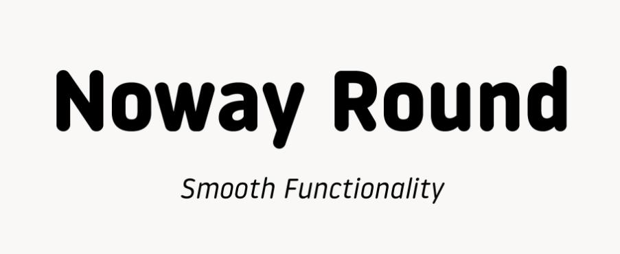 Noway Round Font