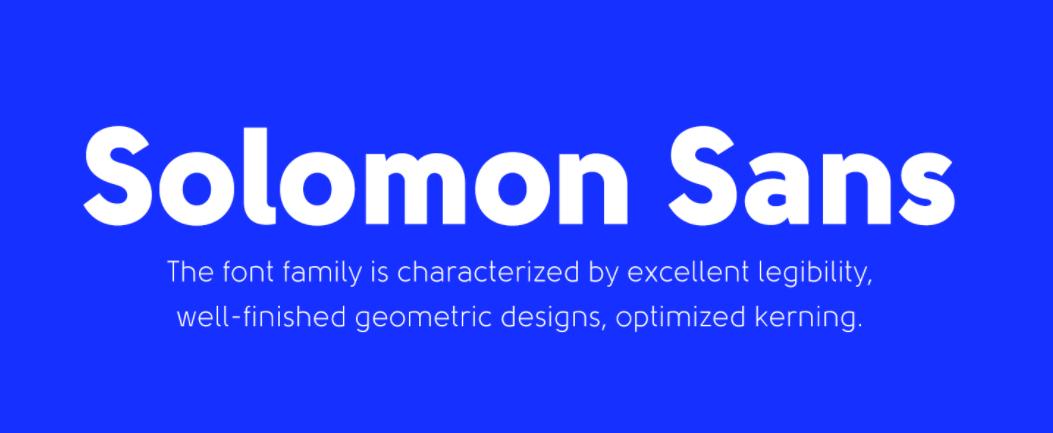 Solomon Sans Font