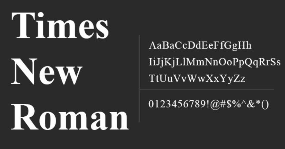 times new roman regular font free download