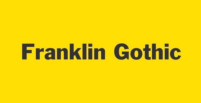franklin gothic font - Franklin Gothic Font Free Download