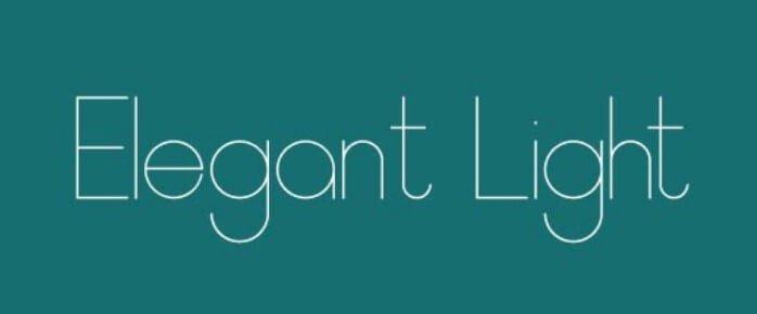 Elegant Light Font