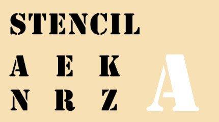 Stencil One Typeface