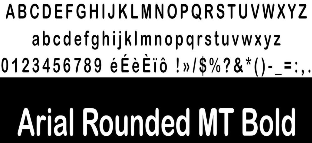 Arial Rounded MT Bold - Arial Rounded MT Bold Font Free Download