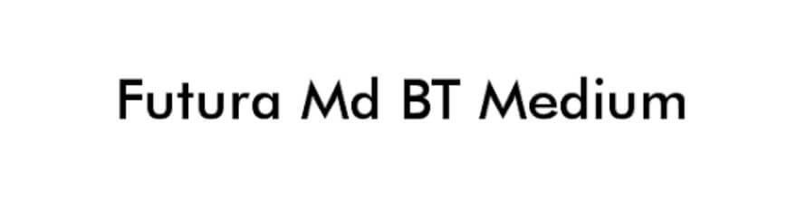 Futura Md BT Medium Font