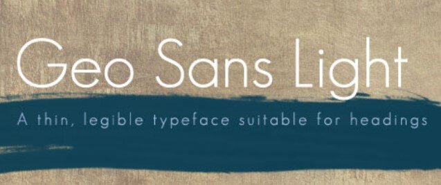 Geo Sans Light Font