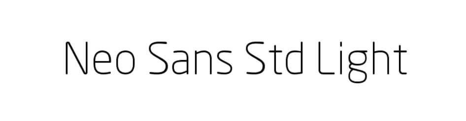 Neo Sans Std Light Font