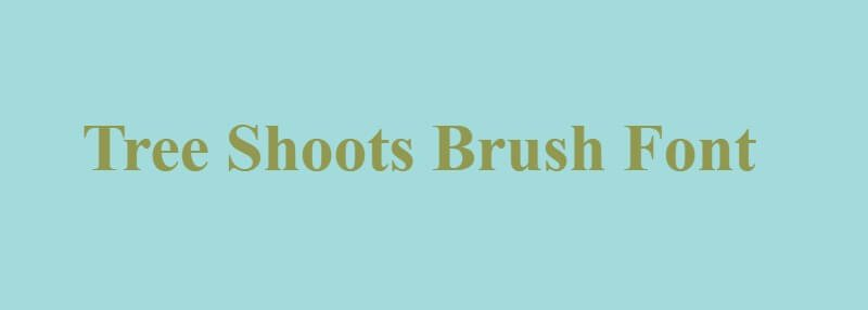 Tree Shoots Brush Font