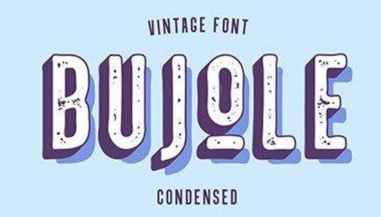 Bujole Vintage Font