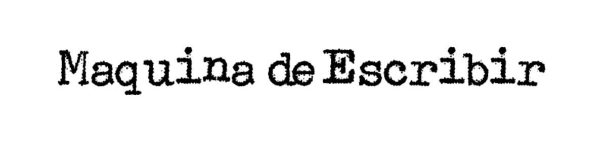 Maquina De Escribir Regular Font