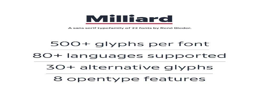 Milliard Font