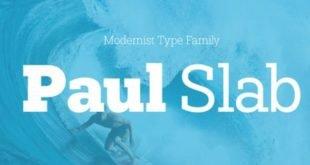 Paul Slab Font 310x165 - Paul Slab Font Family Free Download