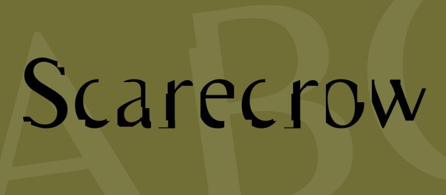 Scarecrow Font
