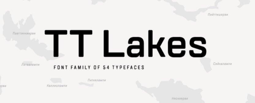 TT Lakes Font