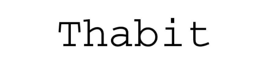 Thabit Font
