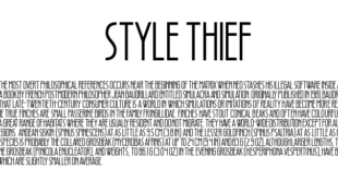 Style Thief 310x165 - Style Thief Font Free Download