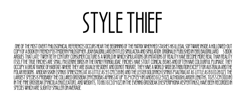 Style Thief - Style Thief Font Free Download