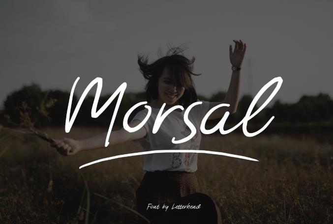 Morsal Handmade Font - Morsal Handmade Font Free Download