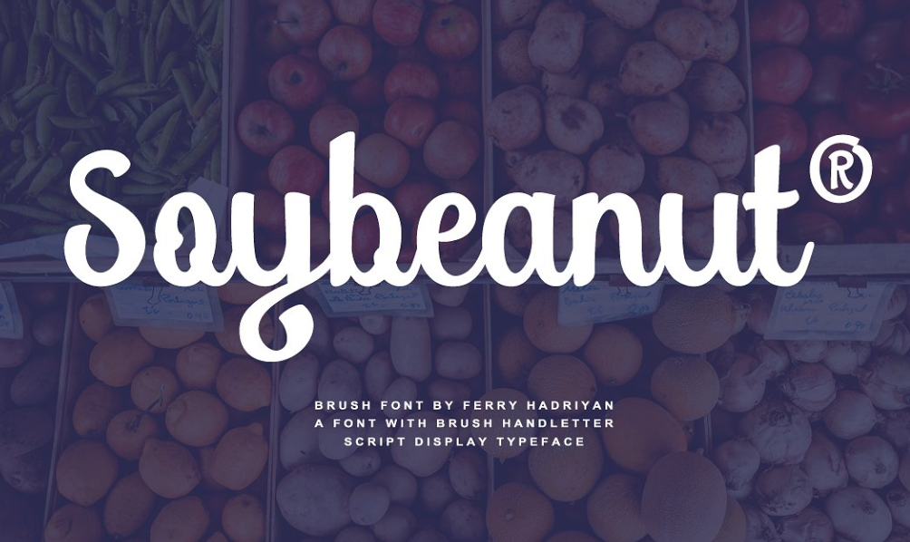 Soybeanut Script Font - Soybeanut Script Font Free Download