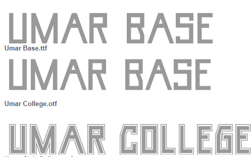 Umar Font Family - Umar Font Family Free Download