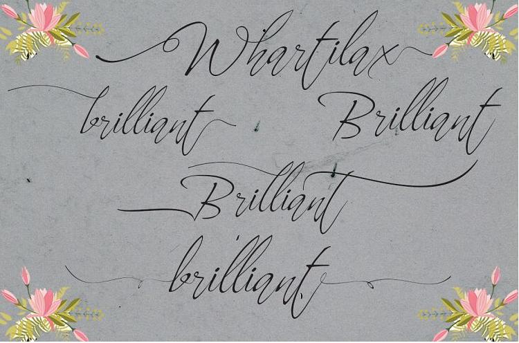 Whartillax Calligraphy Font - Whartillax Calligraphy Font Free Download