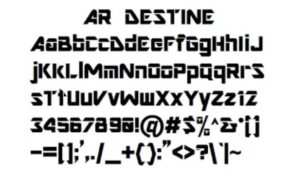Ar Destine - Ar Destine Font Family Free Download