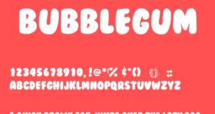 BubbleGum Font 310x165 - BubbleGum Font Free Download