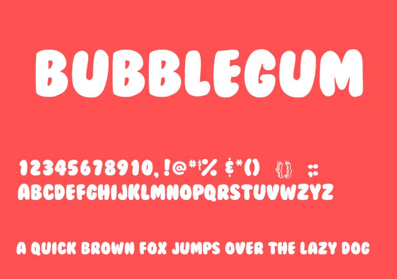 BubbleGum Font - BubbleGum Font Free Download