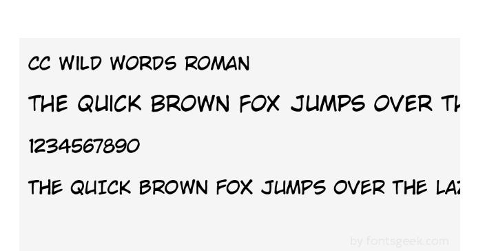 Cc Wild Words Roman - Cc Wild Words Roman Font Free Download