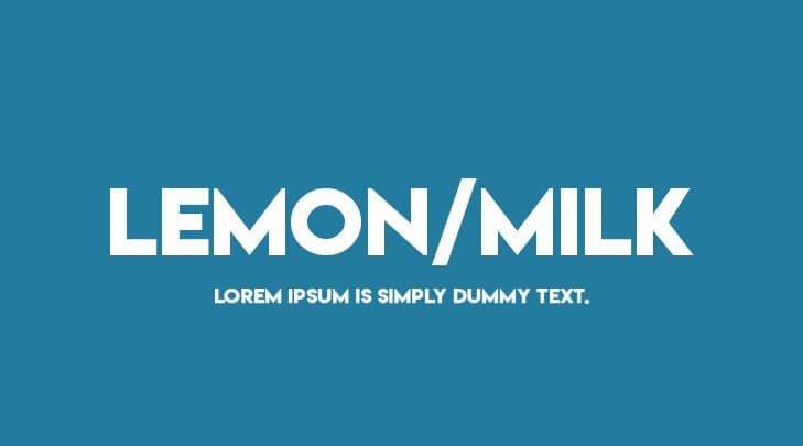 lemon milk font - Lemon Milk Font Free Download