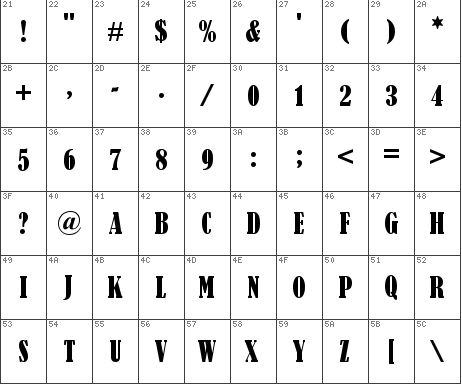 BERNARD MT CONDENSED - Bernard MT Condensed Font Family Free Download