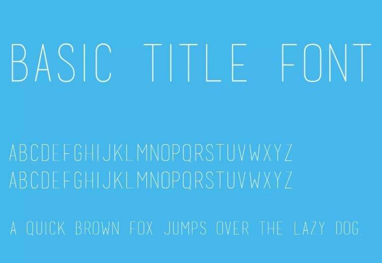BASIC TITLE FONT REGULAR FONT - Basic Title Font Free Download